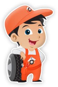 Mobile Tire Service Mascot